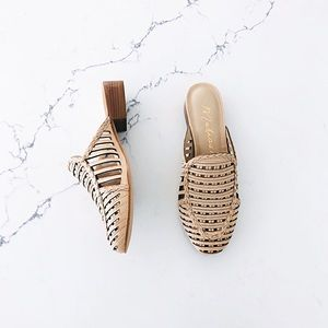 NWT Anthropologie Matisse Frenchie Woven Slides